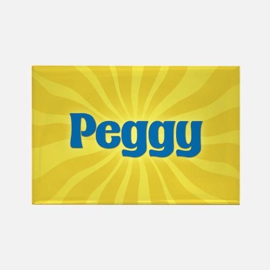 Peggy Sunburst Rectangle Magnet