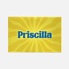 Priscilla Sunburst Rectangle Magnet