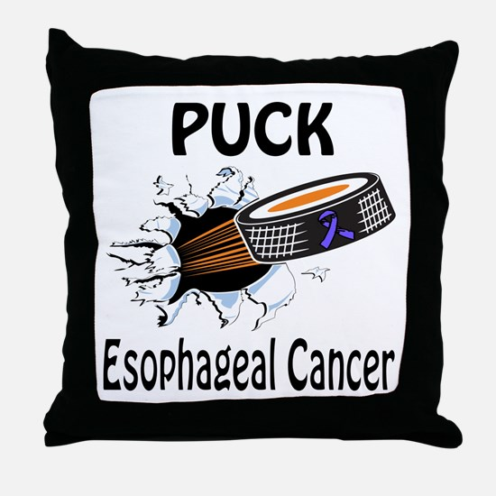 Puck Esophageal Cancer Throw Pillow