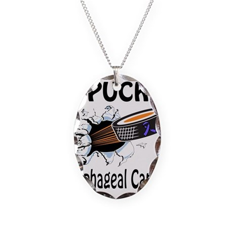 Puck Esophageal Cancer Necklace Oval Charm