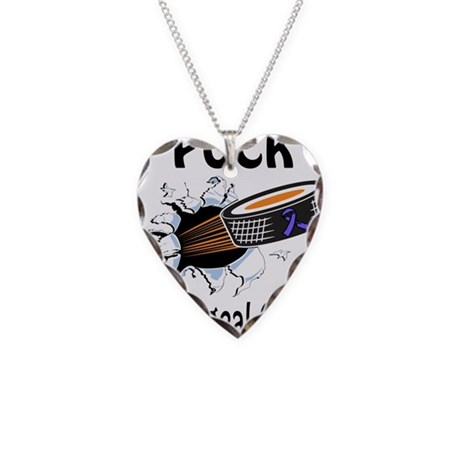 Puck Esophageal Cancer Necklace Heart Charm