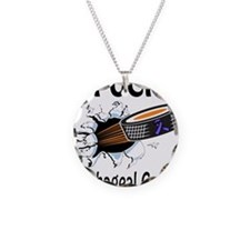 Puck Esophageal Cancer Necklace Circle Charm