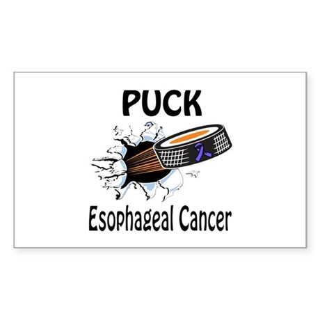 Puck Esophageal Cancer Sticker (Rectangle)