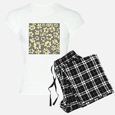 Yellow and Gray Floral. Pajamas