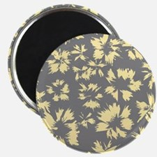 Yellow and Gray Floral. Magnet