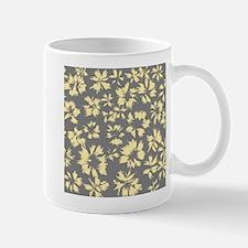 Yellow and Gray Floral. Mug