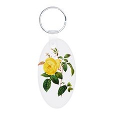 Pierre-Joseph Redoute Rose Keychains