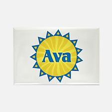 Ava Sunburst Rectangle Magnet