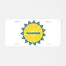 Anastasia Sunburst Aluminum License Plate