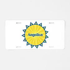 Angelica Sunburst Aluminum License Plate