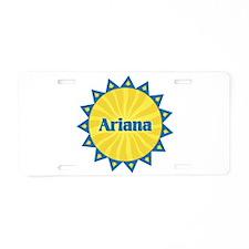 Ariana Sunburst Aluminum License Plate