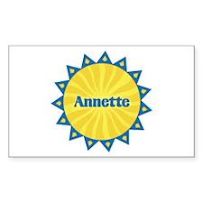 Annette Sunburst Rectangle Decal