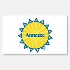 Annette Sunburst Rectangle Decal