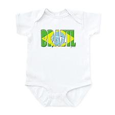 Word Art Flag of Brazil Infant Bodysuit