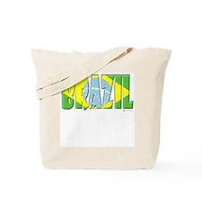Word Art Flag of Brazil Tote Bag
