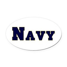 Navy.png Oval Car Magnet