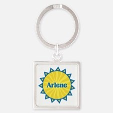 Arlene Sunburst Square Keychain