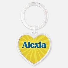 Alexia Sunburst Heart Keychain