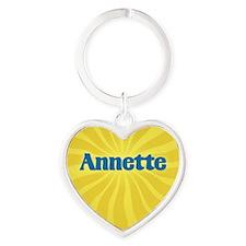 Annette Sunburst Heart Keychain