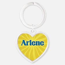 Arlene Sunburst Heart Keychain