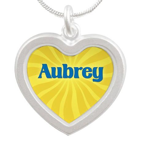 Aubrey Sunburst Silver Heart Necklace