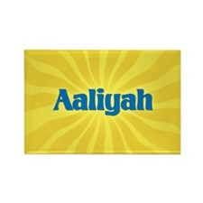 Aaliyah Sunburst Rectangle Magnet