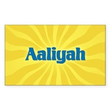 Aaliyah Sunburst Rectangle Decal