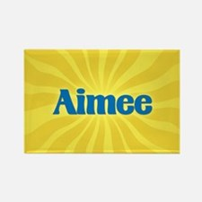 Aimee Sunburst Rectangle Magnet