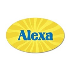 Alexa Sunburst Wall Decal