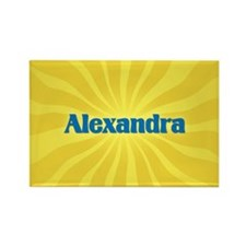 Alexandra Sunburst Rectangle Magnet