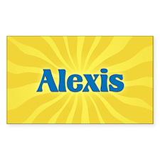 Alexis Sunburst Oval Decal