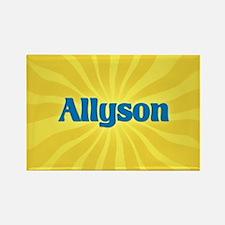 Allyson Sunburst Rectangle Magnet