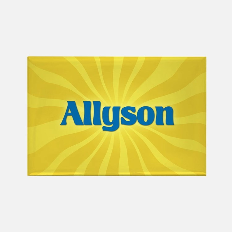 Allyson Sunburst Rectangle Magnet