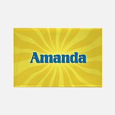 Amanda Sunburst Rectangle Magnet