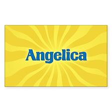 Angelica Sunburst Oval Decal
