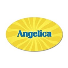 Angelica Sunburst 20x12 Oval Wall Decal