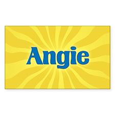 Angie Sunburst Oval Decal
