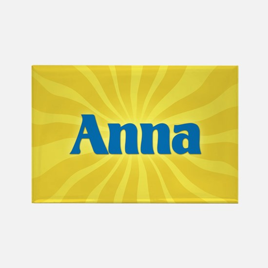 Anna Sunburst Rectangle Magnet