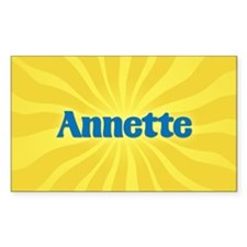 Annette Sunburst Oval Decal