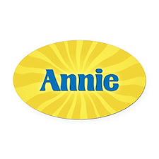 Annie Sunburst Oval Car Magnet