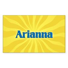 Arianna Sunburst Oval Decal