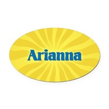Arianna Sunburst Oval Car Magnet