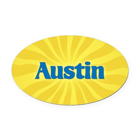 Austin Sunburst Oval Car Magnet