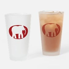 Unique Red elephants Drinking Glass