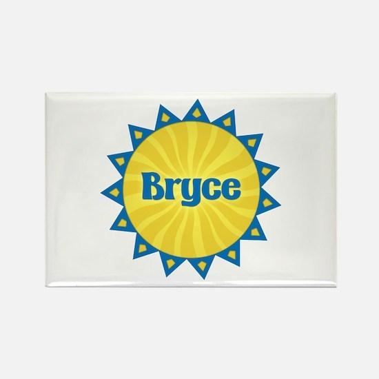 Bryce Sunburst Rectangle Magnet