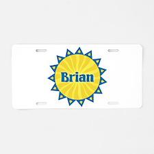 Brian Sunburst Aluminum License Plate