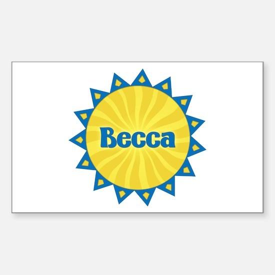 Becca Sunburst Rectangle Decal