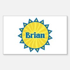 Brian Sunburst Rectangle Decal