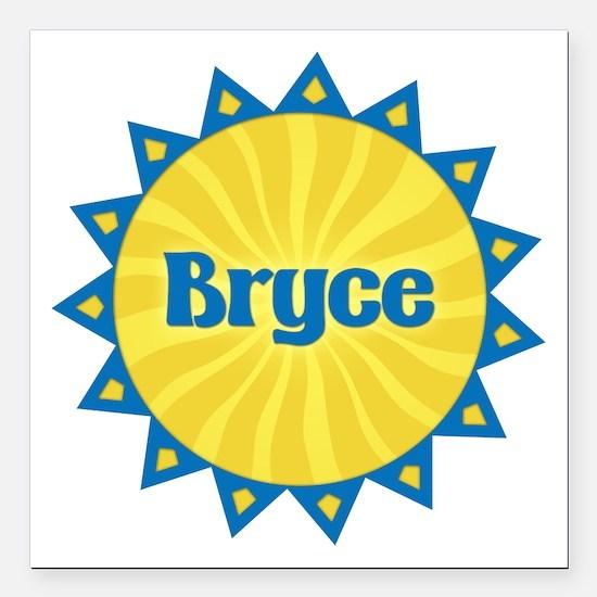 Bryce Sunburst Square Car Magnet