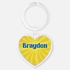 Brayden Sunburst Heart Keychain